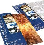 Custom Full Color Long Run White Text Brochure (8 ½