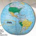 Custom Light Blue Inflatable Political Globe (12