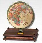 Custom Premier Antique Ocean Desk Globe with Rand McNally World Atlas