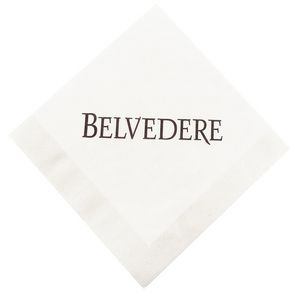 5x5 White 1-Ply Coin Edge Embossed Beverage Napkins - The 500 Line