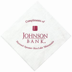 5x5 White Linen Embossed Beverage Napkins - The 500 Line