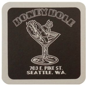 40 Pt. 4 Square Coaster - White High Density Coasters - The 500 Line