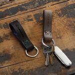 Custom SADDLER Leather Loop Keychain