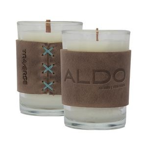 8oz Candle with Leather Sleeve