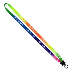"1/2"" Tie Dye Lanyard w/ Plastic Clamshell & O-Ring"