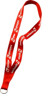 3/4 Imported Polyester Lanyard w/ Metal Split Ring