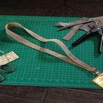Custom ROPER Leather Lanyard w/ Metal Split-ring