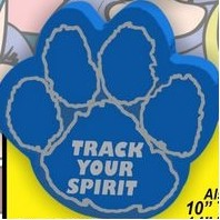 "Paw Print Foam Hand Mitt w/Outlined Pads (10"")"