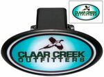 Custom Hitch Covers w/ Laminated Decal - Oval