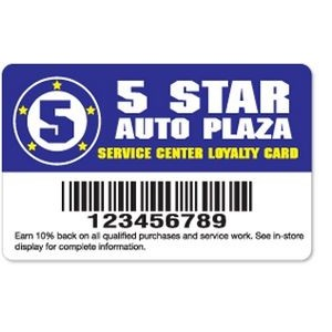 ".020"" Gloss White Deluxe Loyalty Cards (3 3/8""x 2 1/8"")"
