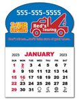 Custom 1 Month View Adhesive Calendar Pad w/Oval Top