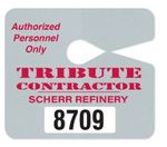 Custom Jumbo Hang Tag Parking Permit (.035
