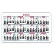 4 Color Process Loyalty Cards w/Calendar