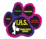 Custom Paw Print 4-Color Process Outdoor Magnet (5 1/2