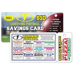 ".020"" Gloss White Deluxe Card w/1 Key Tag (4 7/16""x 2 1/8"")"