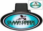 Custom Hitch Covers w/ Domed Decal - Oval