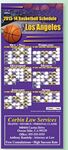 Custom Professional Basketball Sports Schedule Magnet (3 1/2