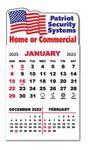 Custom 3 Month View Adhesive Calendar Pad w/Wavy Top
