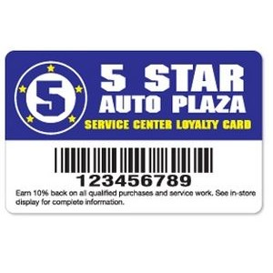 ".030"" Gloss White Deluxe Loyalty Cards (3 3/8""x 2 1/8"")"
