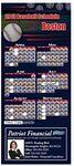 Custom Professional Baseball Sports Schedule Magnet (3 1/2