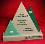 Custom Triple Apex Award