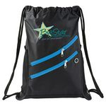 Custom Two Zipper Deluxe Drawstring Sportspack