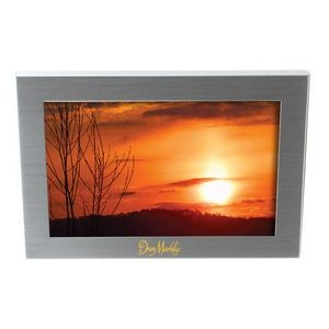"Store Brushed Silver Metal 4""x6"" Photo Frame (6 7/8""x4 7/8""x5/8"")"