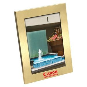 "Sentiment Brushed Gold Metal Frame (3 1/2""x5"" Photo)"