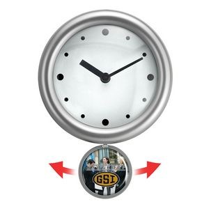 "10"" Swinging Pendulum Analog Wall Clock"