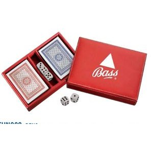 Reno Leather Playing Card & Coaster Gift Set
