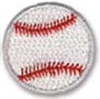 Custom Stock Embroidered Appliques - Baseball