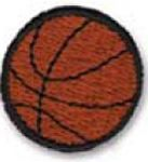 Custom Stock Embroidered Appliques - Basketball