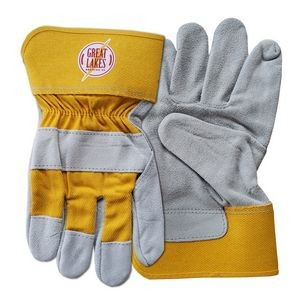 Yellow Suede Cowhide Leather Gloves