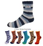 Custom Custom Overseas Striped Fuzzy Socks