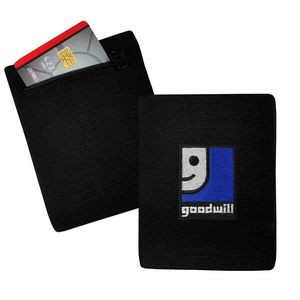 Wristband Wallet with RFID Blocking Material