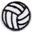 Custom Embroidered Stock Appliques - Volleyball