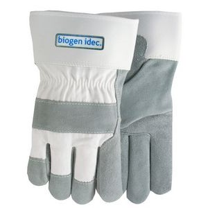 White Suede Cowhide Leather Gloves