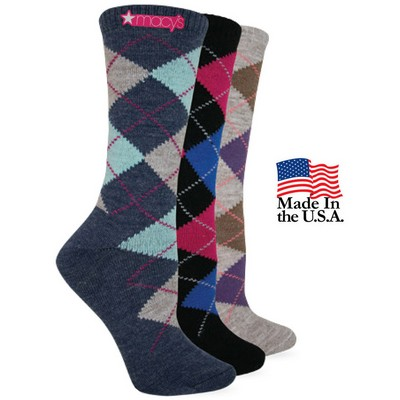 Fashion Plus Women's Argyle Crew Socks