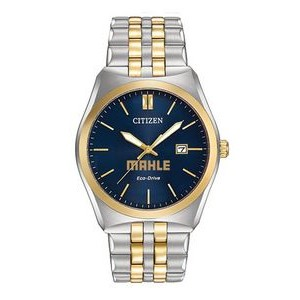 Men's Citizen® Eco-Drive® Two-Tone Watch (Blue Dial)