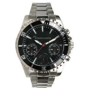 Men's Pedre Chronograph Watch (Black Dial)
