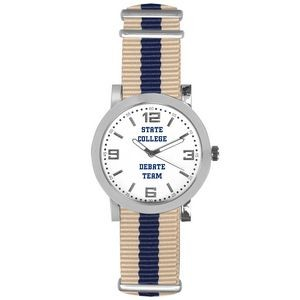Pedre Spirit Sport Watch (Khaki Beige/Navy Blue Stripe)