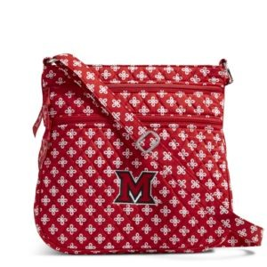 Vera Bradley Triple Zip Collegiate Hipster Bag (Miami of Ohio)
