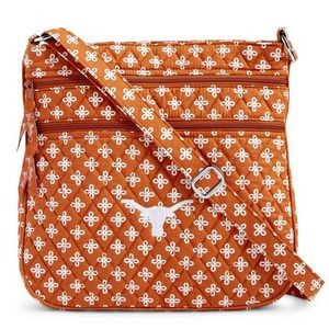 Vera Bradley Triple Zip Collegiate Hipster Bag (Texas)