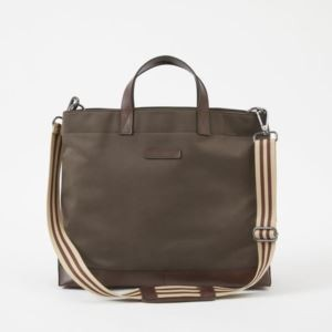 Oliver Metro Tote - Brushed Microfiber - Tobacco Brown
