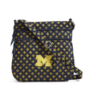 Vera Bradley Triple Zip Collegiate Hipster Bag (Michigan)