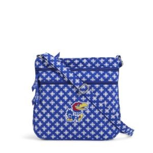 Vera Bradley Triple Zip Collegiate Hipster Bag (Kansas)