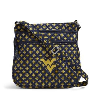 Vera Bradley Triple Zip Collegiate Hipster Bag (West Virginia)