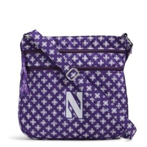 Vera Bradley Triple Zip Collegiate Hipster Bag (Northwestern)