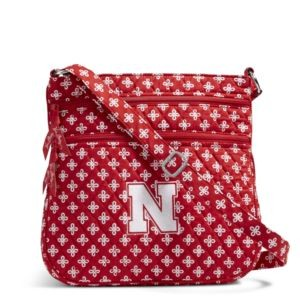 Vera Bradley Triple Zip Collegiate Hipster Bag (Nebraska)