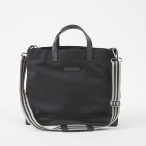 Oliver Metro Tote - Brushed Microfiber - Charcoal Black